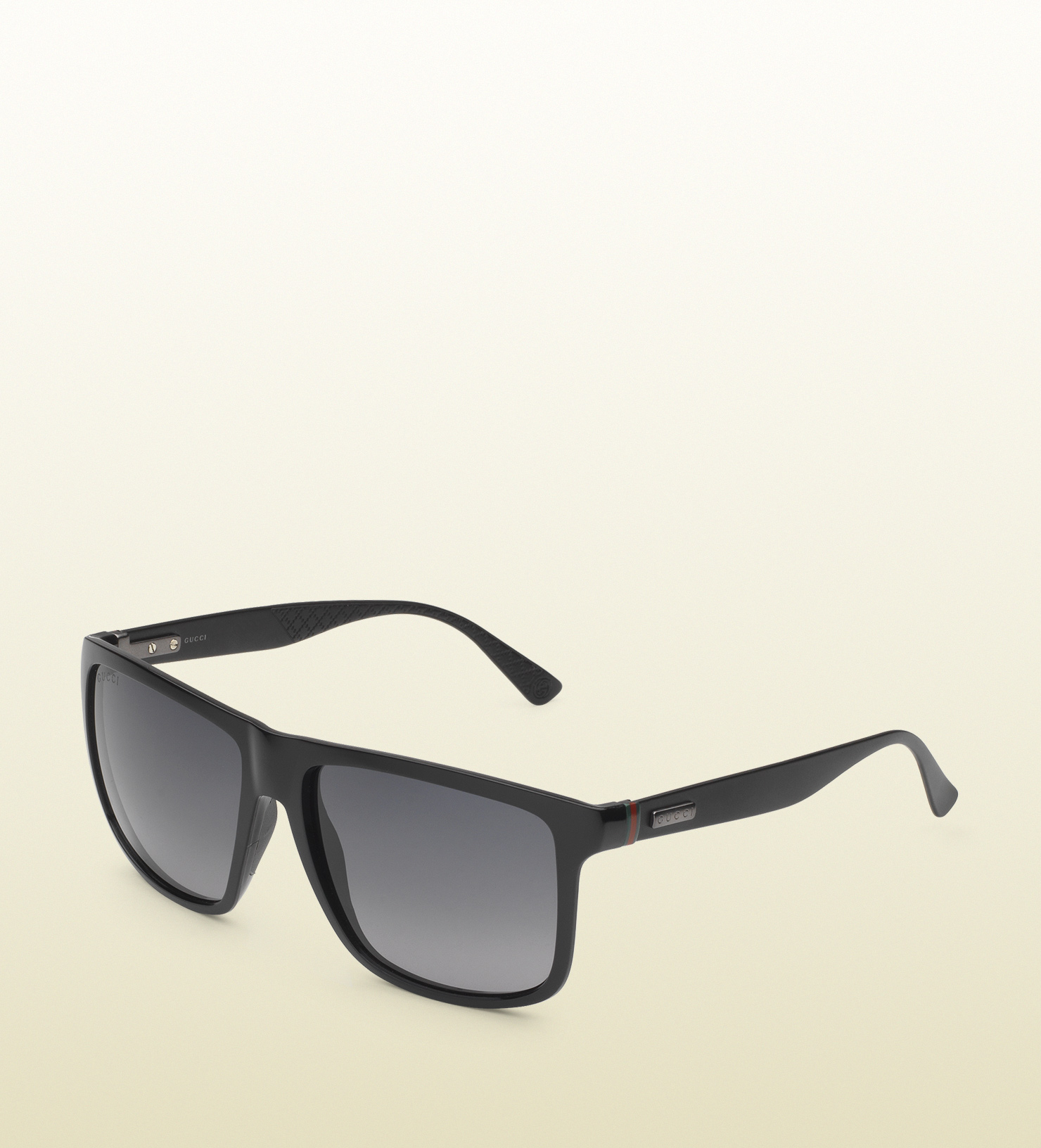 8063cbbbba75f Lyst - Gucci Square-frame Aluminum And Injected Sunglasses in Black ...