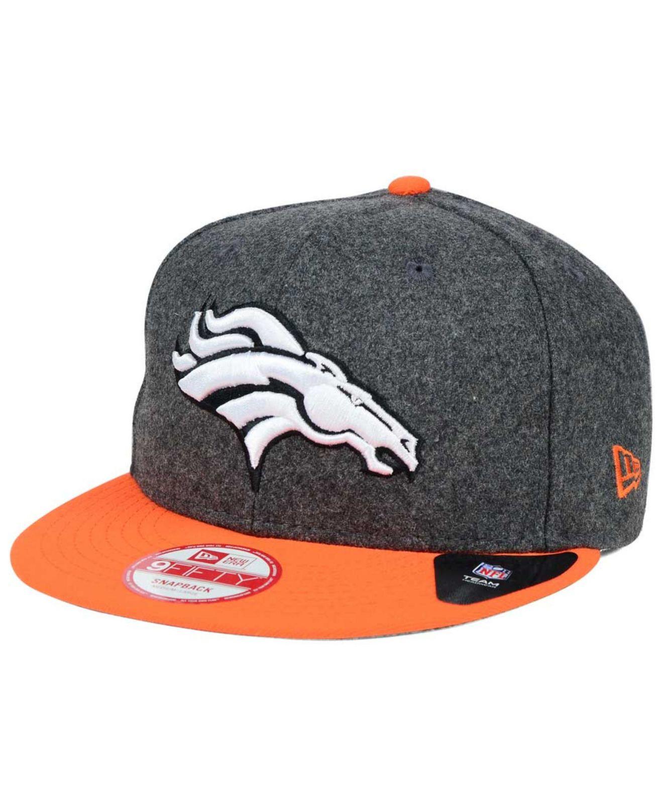 reputable site d8816 4d580 Lyst - KTZ Denver Broncos Shader Melt 9fifty Snapback Cap in Orange ...