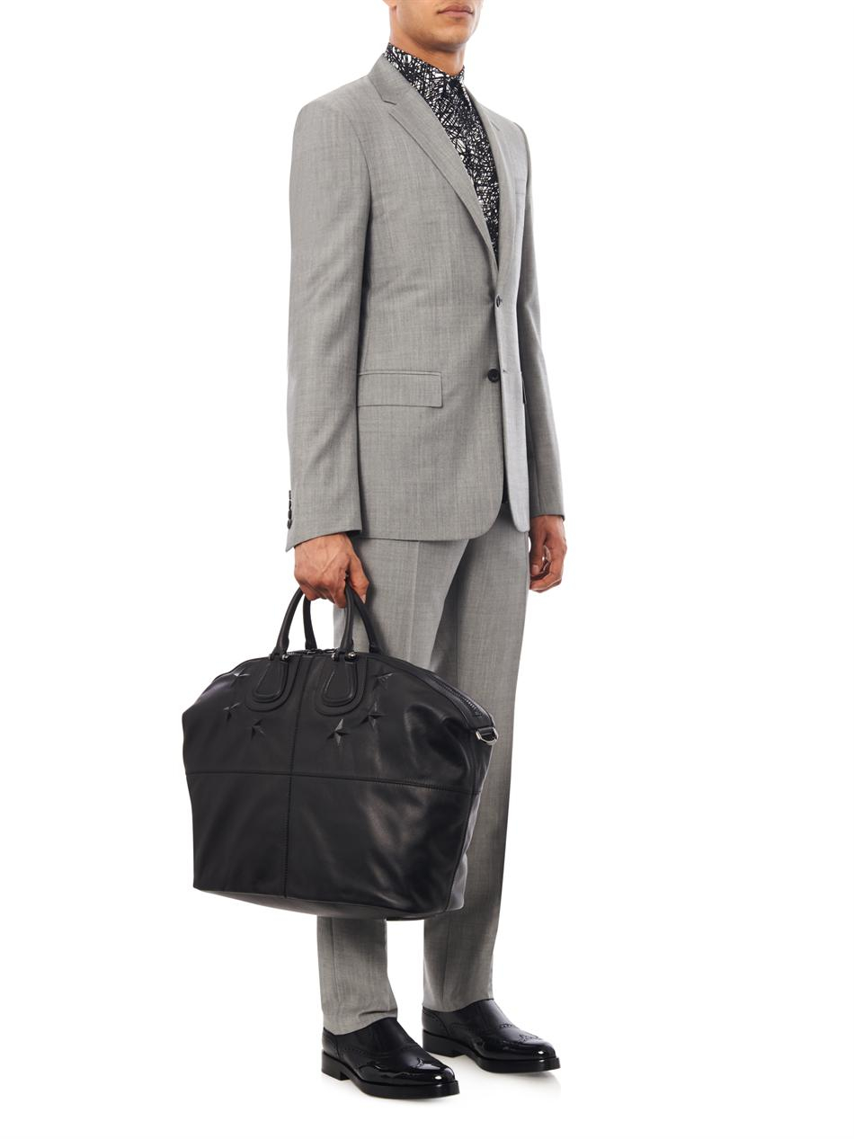 26125dde48e Lyst - Givenchy Nightingale Leather Holdall in Black for Men