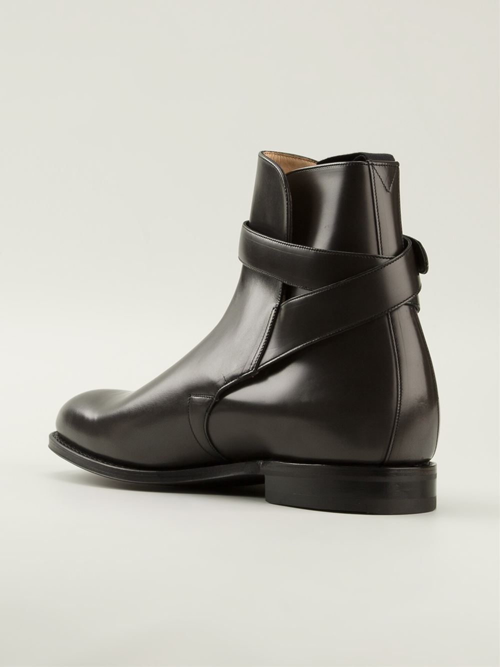 Church S Bcukle Strap Ankle Boots In Black For Men Lyst
