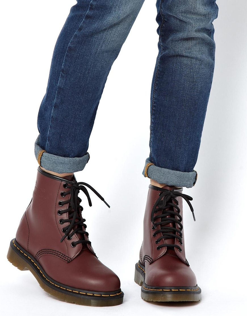 dr martens modern classics cherry smooth 1460 8 eye boots in lyst