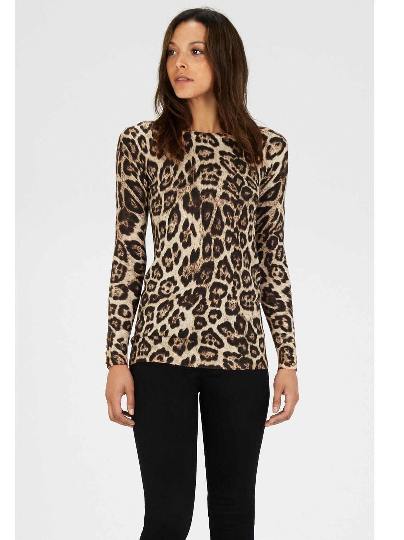 Warehouse Leopard Print Jumper | Lyst