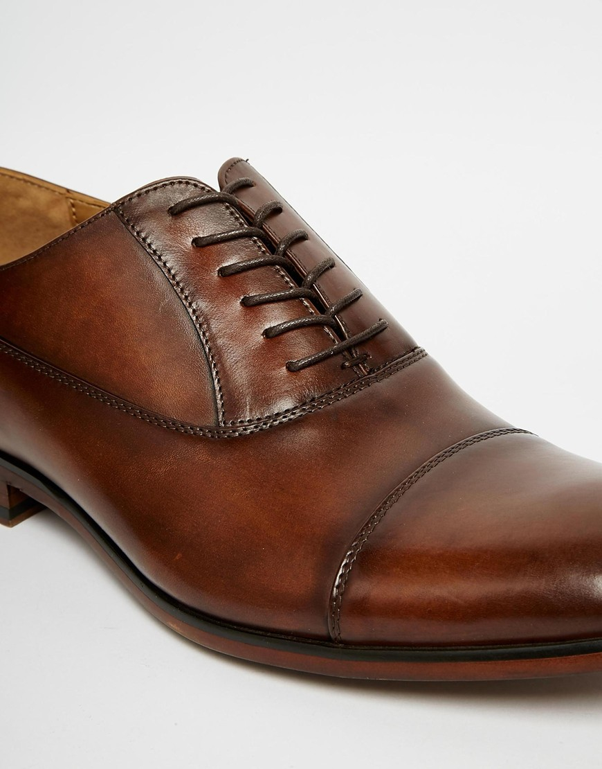 Aldo Maric Leather Shoes In Brown For Men Lyst
