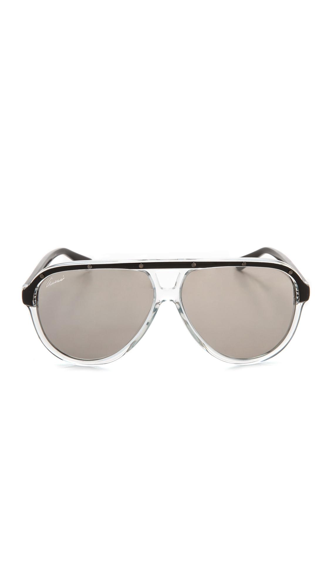 ab425386ca9 Lyst - Gucci Aviator Sunglasses - Violet Black pink in Black