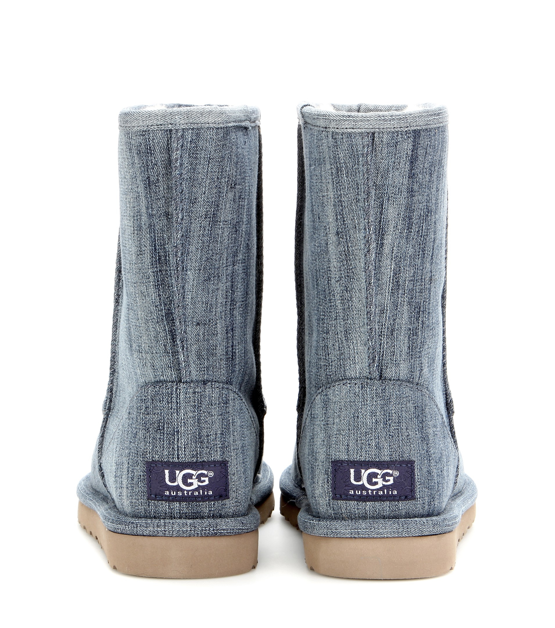 Lyst Ugg Classic Short Denim Boots In Blue
