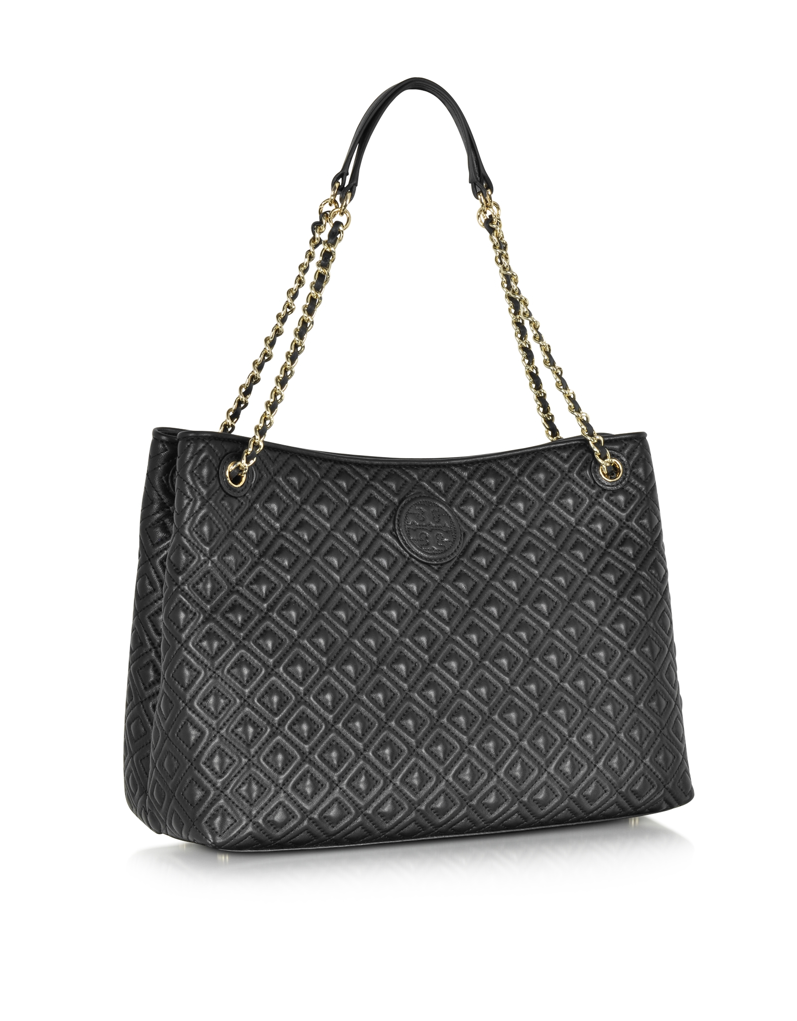 45f246b69f3 Lyst - Tory Burch Marion Quilted Chain Shoulder Slouchy Tote Bag in ...