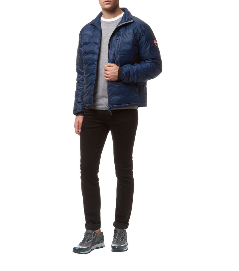 Canada Goose kids online fake - Canada goose Lodge Jacket in Blue for Men | Lyst