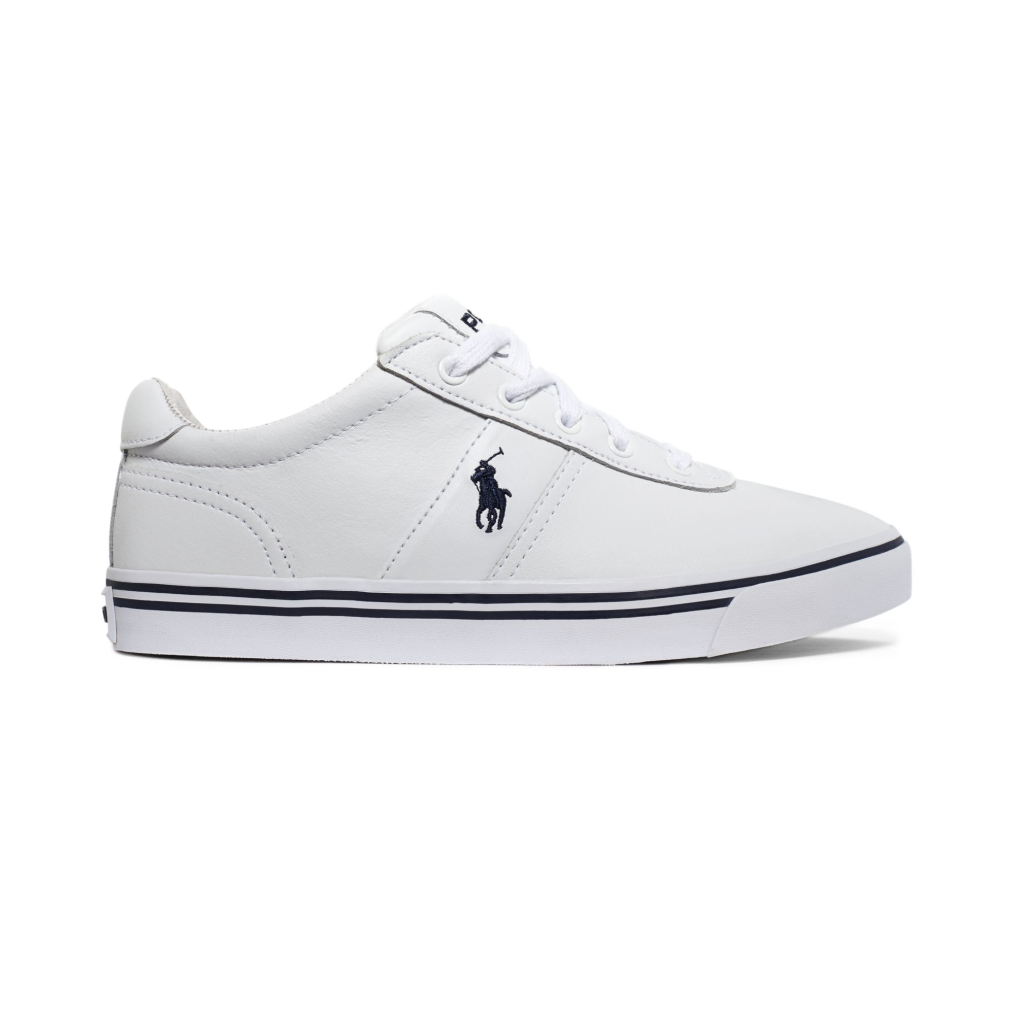 polo ralph hanford leather sneakers in white for lyst