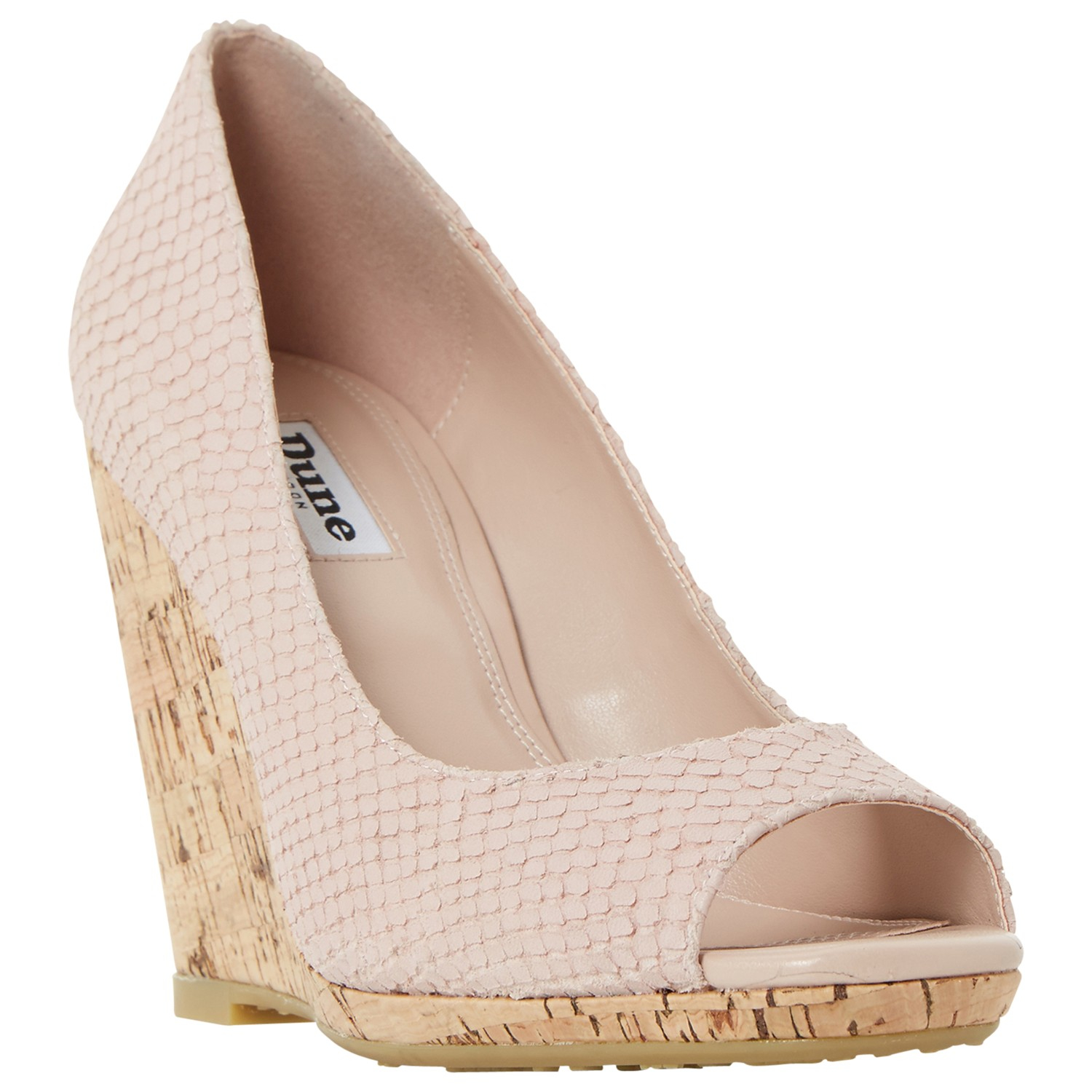 99159d99aa8d Dune Charlotte Cork Effect Wedge Sandals in Pink - Lyst