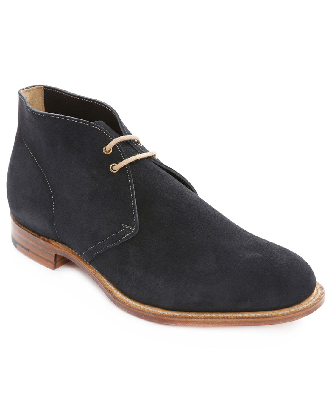 church s navy suede desert boots in blue for