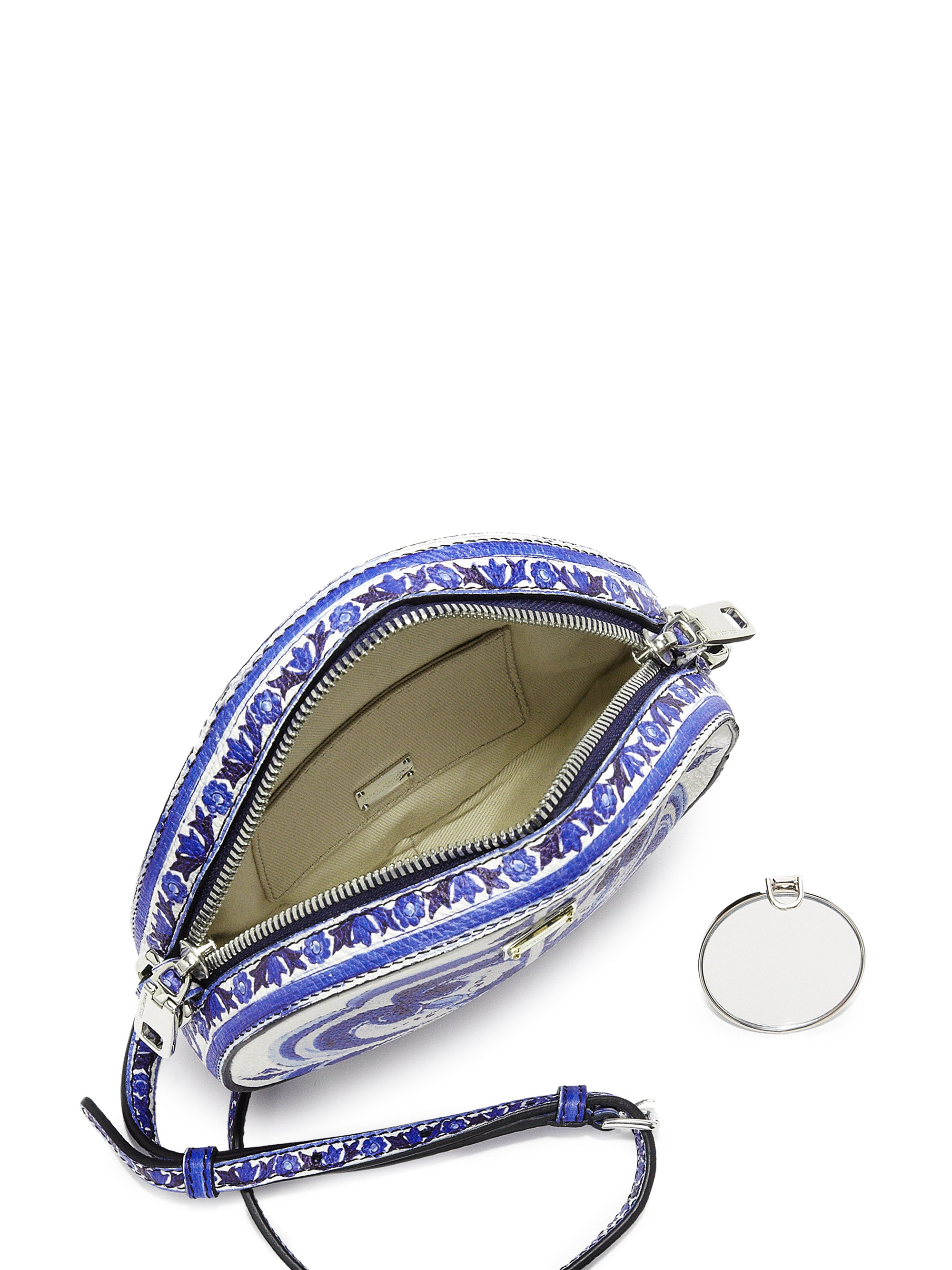 Lyst - Dolce   Gabbana Glam Italian Tile Textured Leather Crossbody ... d4442fb21abb3