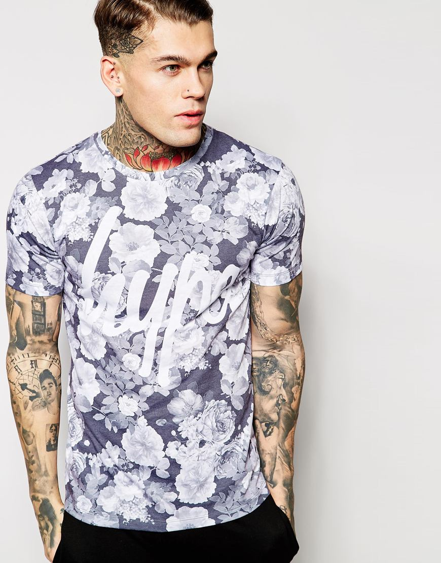 hype t shirt with all floral print exclusive to asos