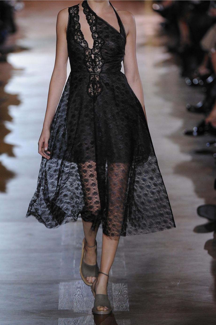 Lyst - Stella Mccartney Caroline Cutout Lace Dress in Black