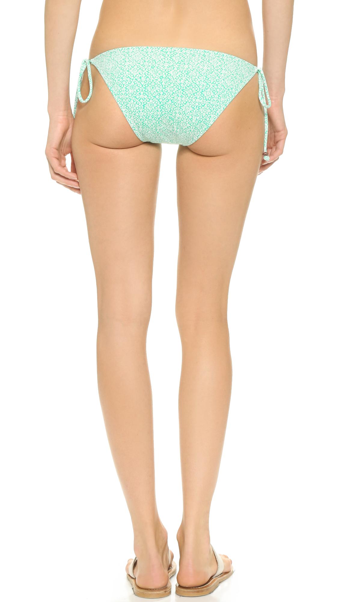 Lyst Eberjey Havana Soul Eva Bikini Bottoms Cool Mint In Green