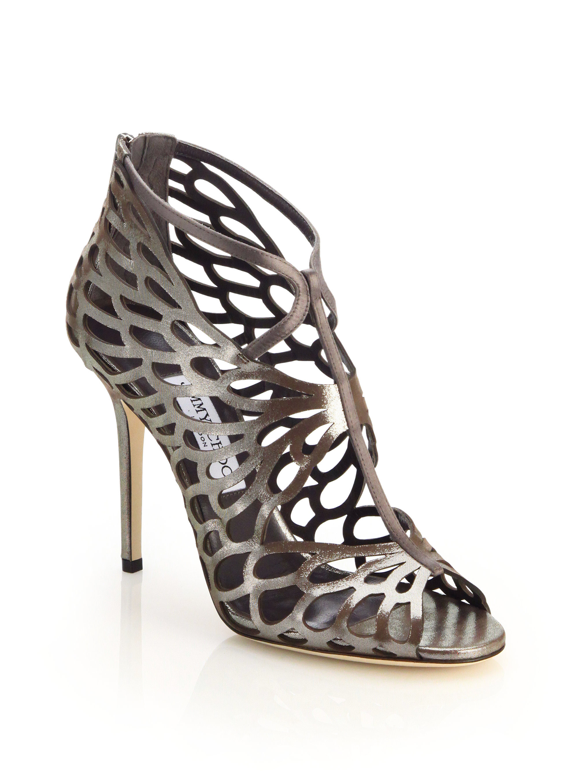 Jimmy Choo Snakeskin-Trimmed Laser Cut Sandals buy cheap 100% authentic store online buy cheap exclusive cheap from china buy cheap online SVRNXXCG1