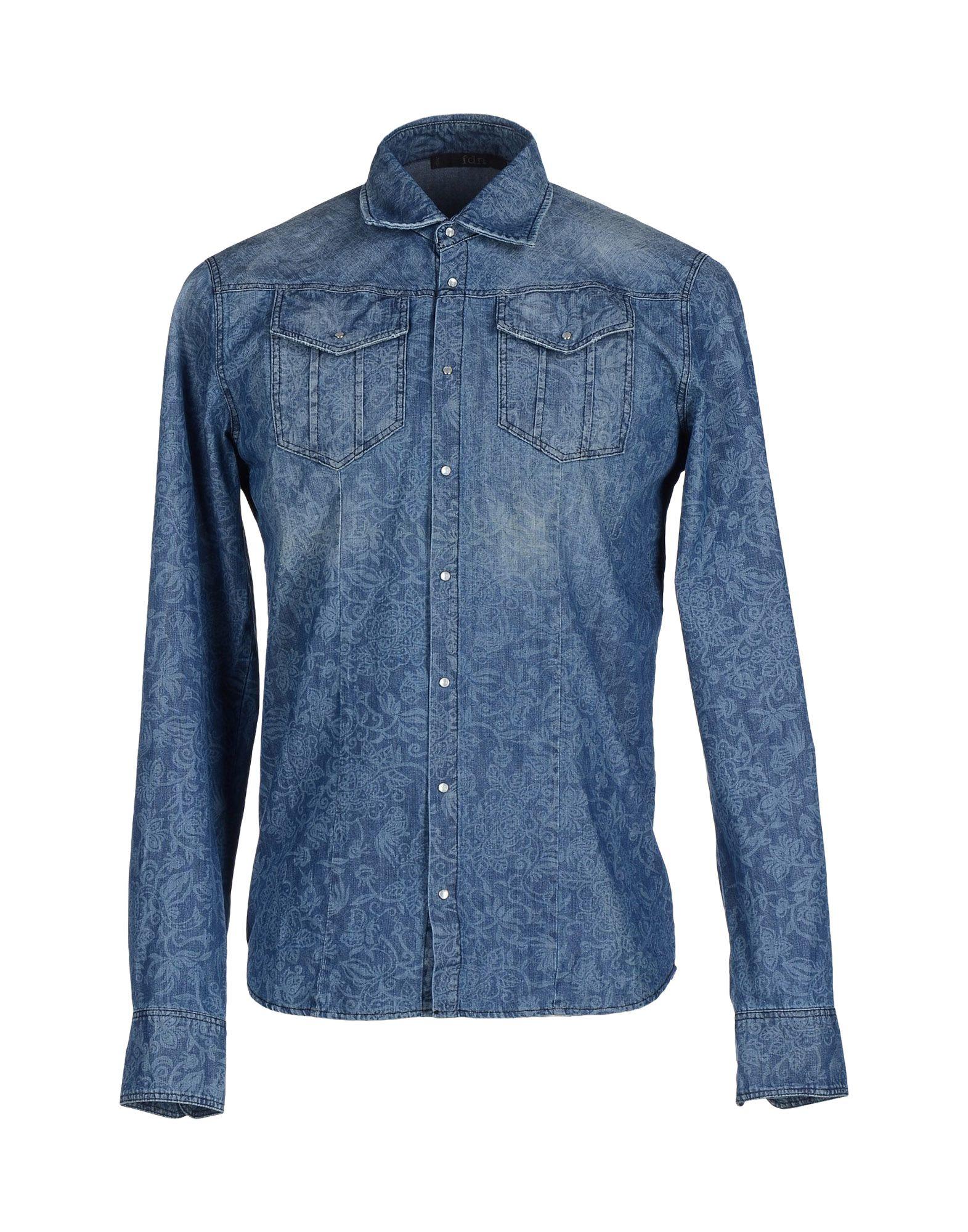 Fdn Denim Shirt In Blue For Men Lyst