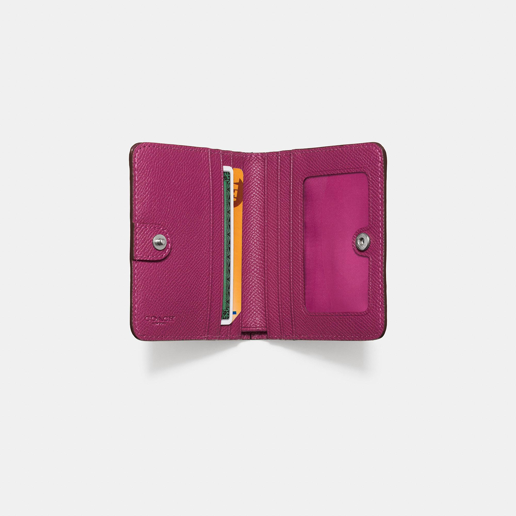 d3136cec18e COACH Small Wallet In Edgestain Leather in Purple - Lyst