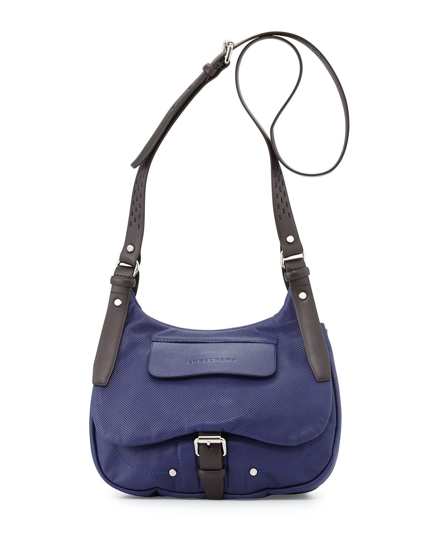 e0c782ac981 Lyst - Longchamp Balzane Roots Leather Crossbody Bag in Blue