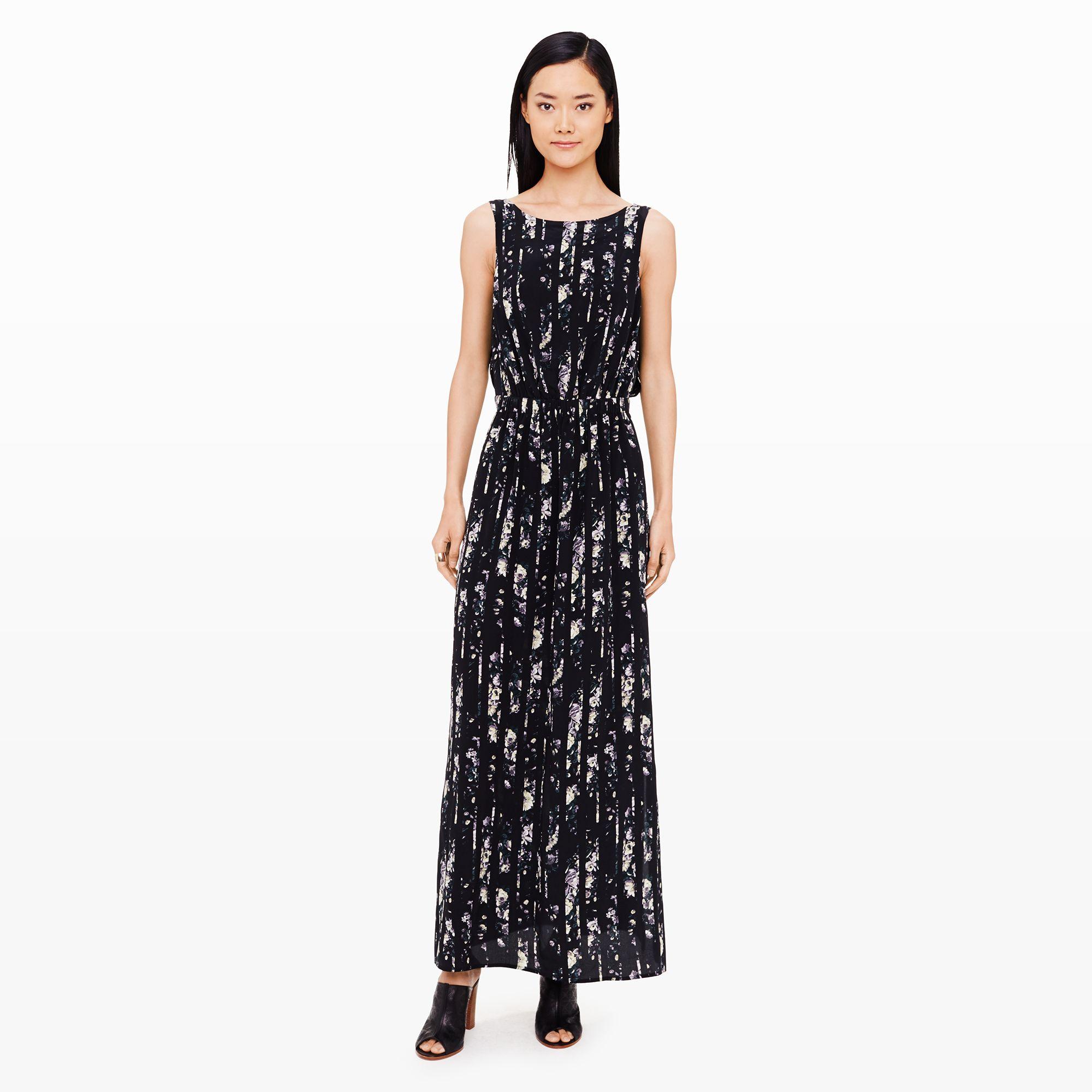 45b501f603 Lyst - Club Monaco Mariam Silk Dress in Black