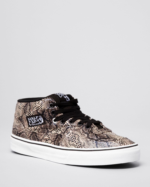 bc7590283475 Lyst - Vans Half Cab Snake Sneakers in Natural for Men