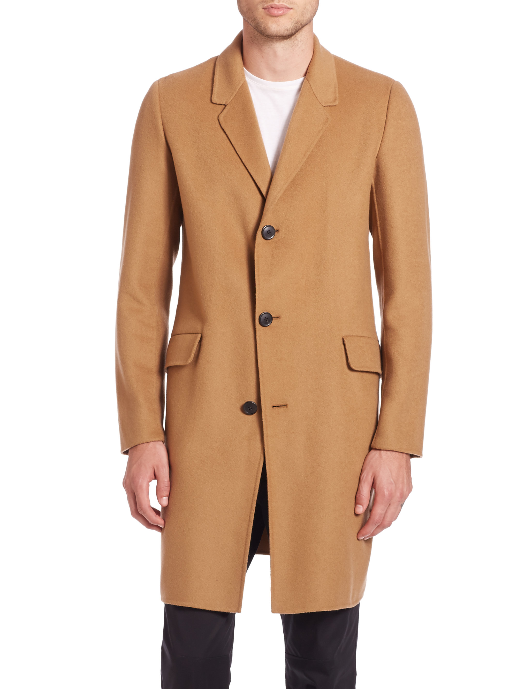 37b694d1c4 Theory Double Faced Cashmere Coat in Brown for Men - Lyst