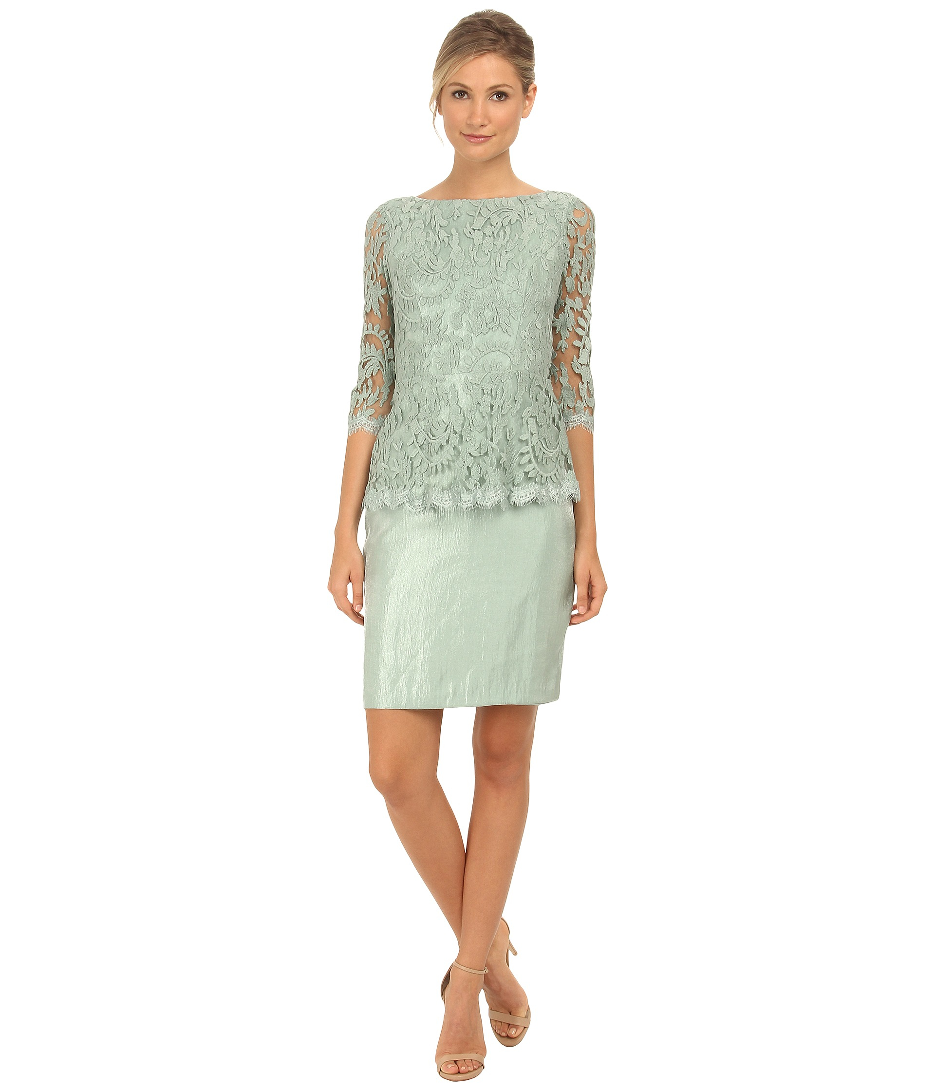 74506b8dfd78 Gallery. Previously sold at: Zappos · Women's Peplum Dresses Women's Adrianna  Papell Floral ...