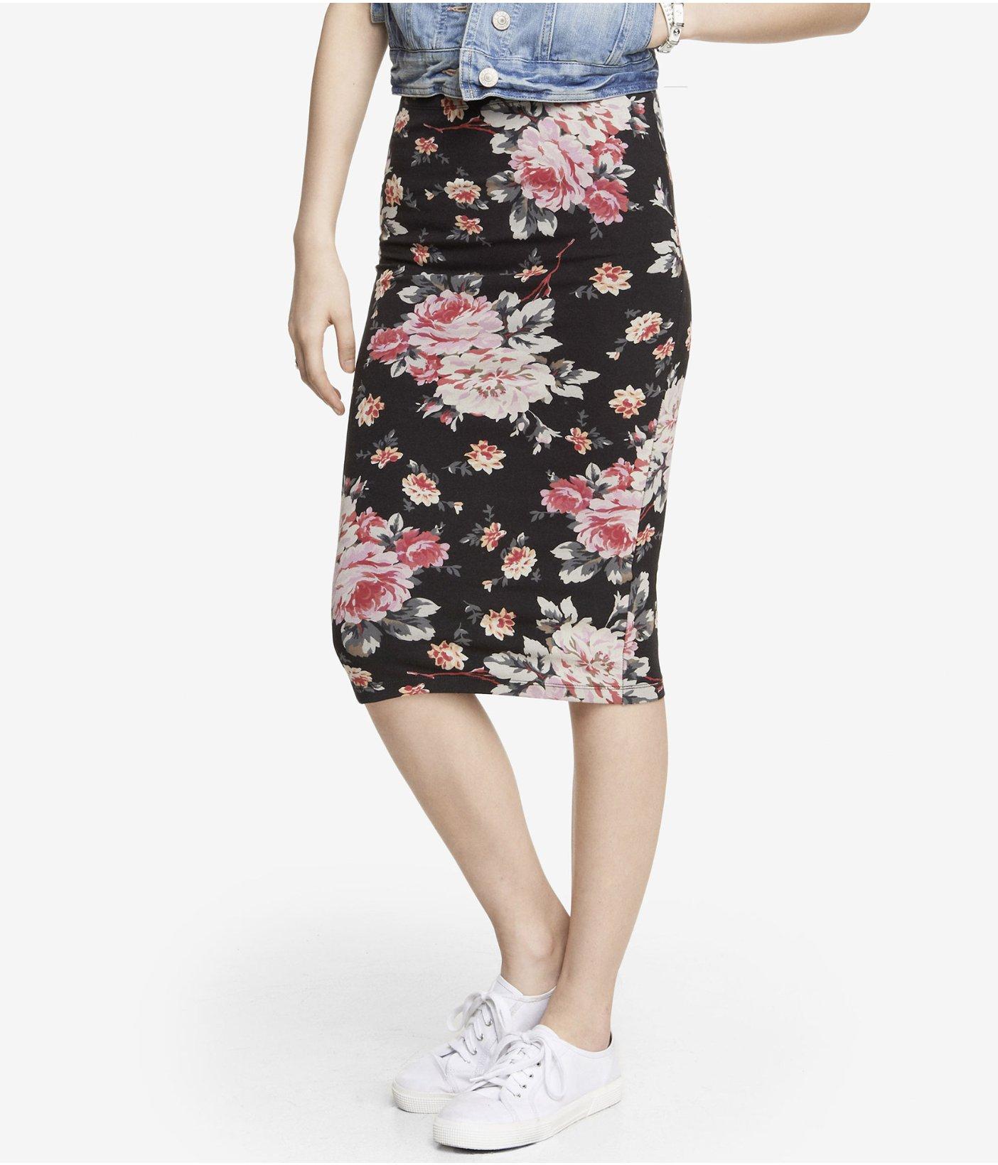 floral pencil skirt - photo #31