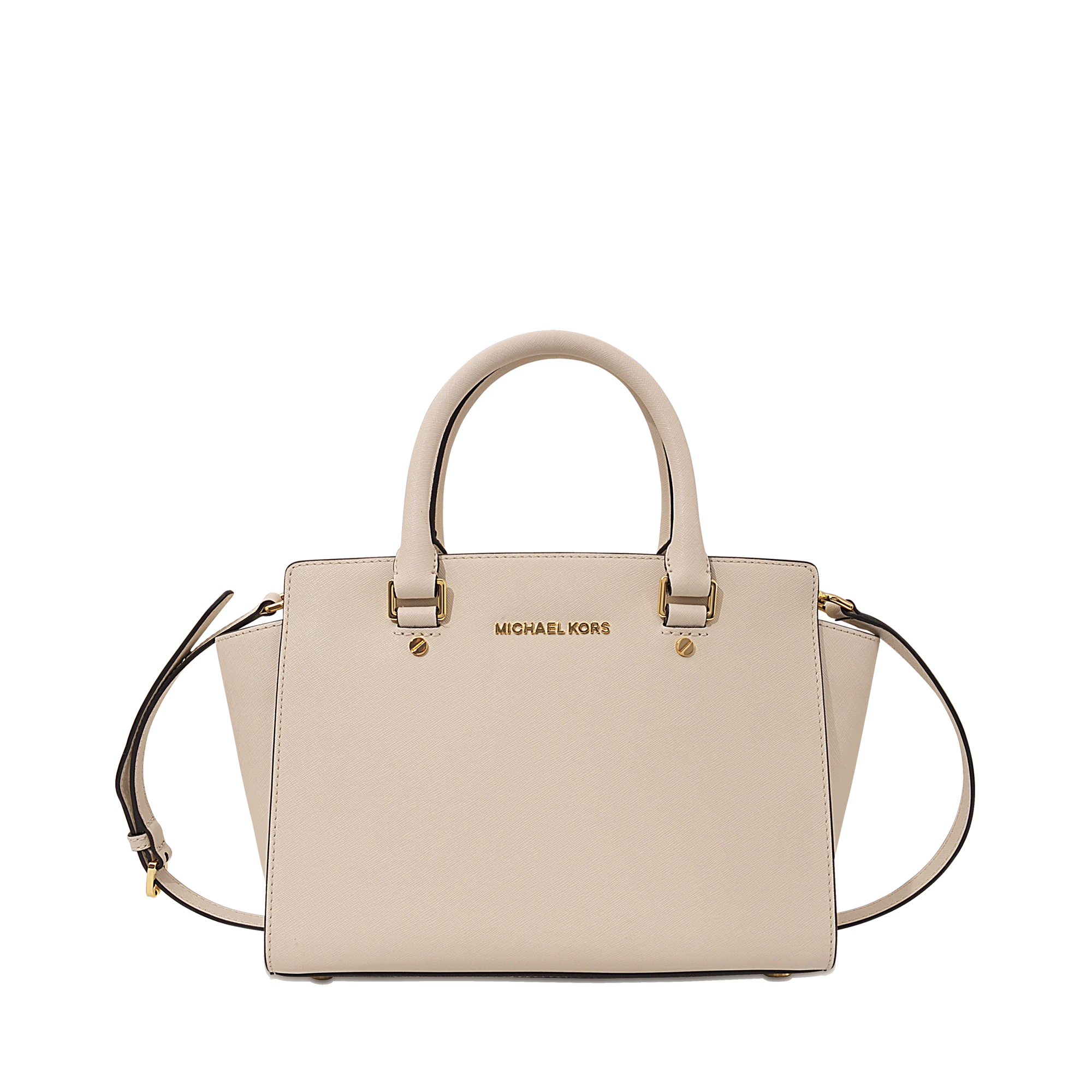 35b4934bcfc7 MICHAEL Michael Kors Selma Md Tz Satchel in Natural - Lyst