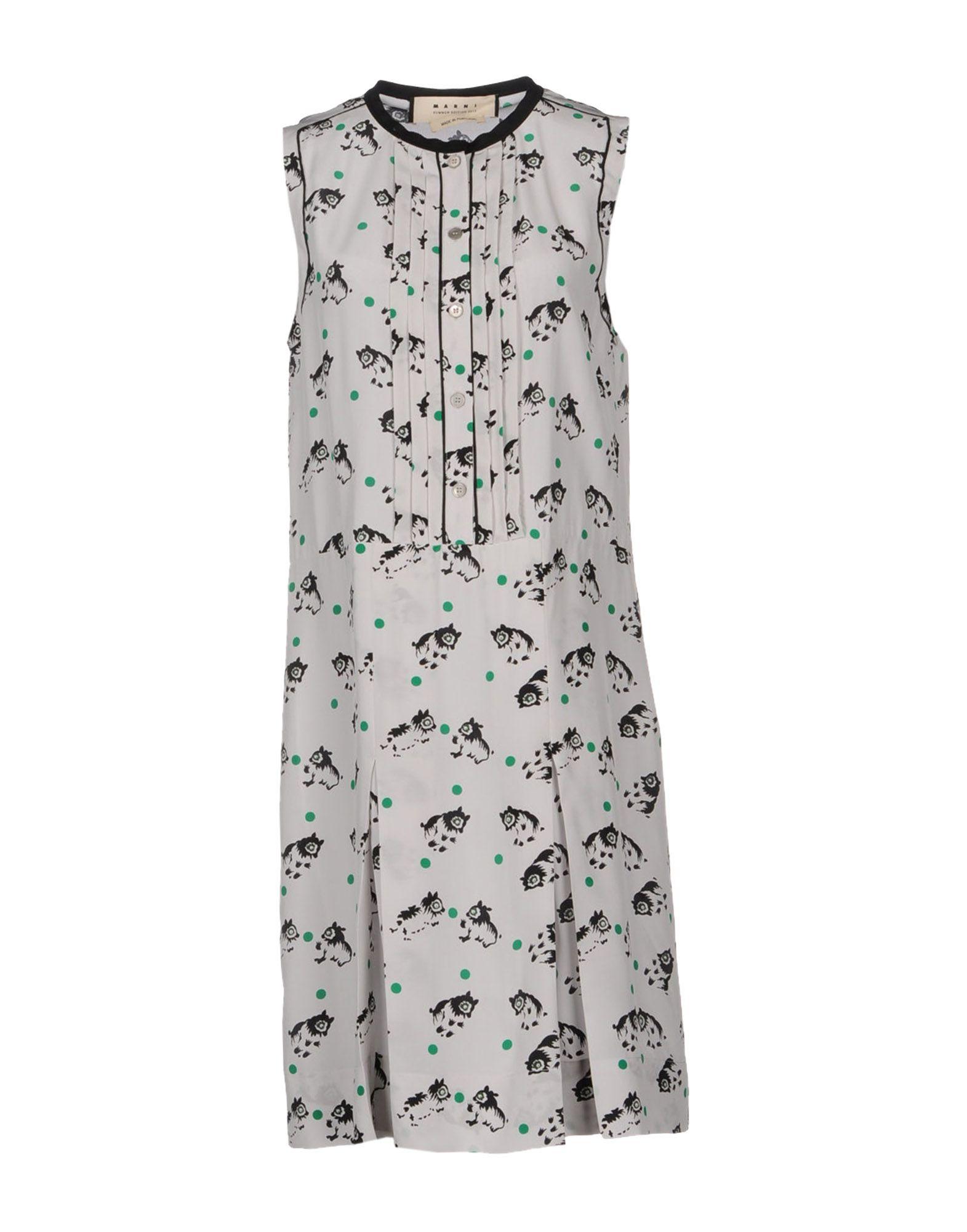 Marni Kneelength Dress In Gray Lyst