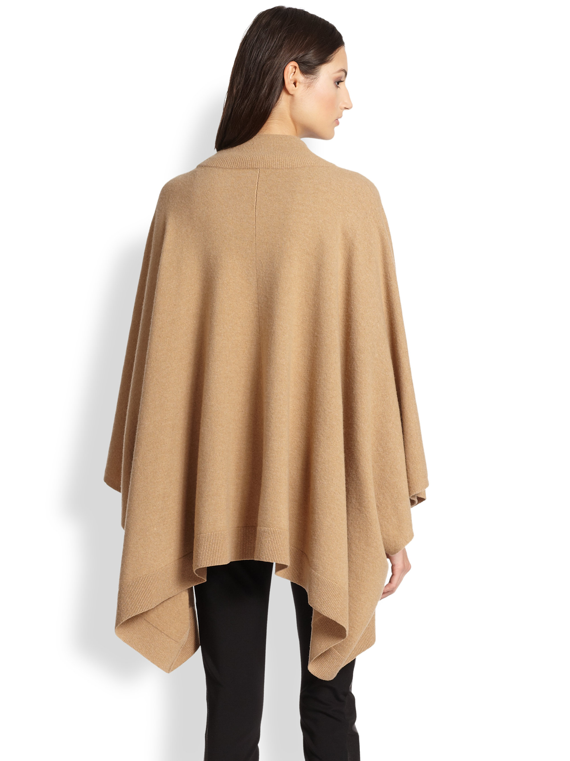 Theory Florencia Poncho Sweater in Brown | Lyst