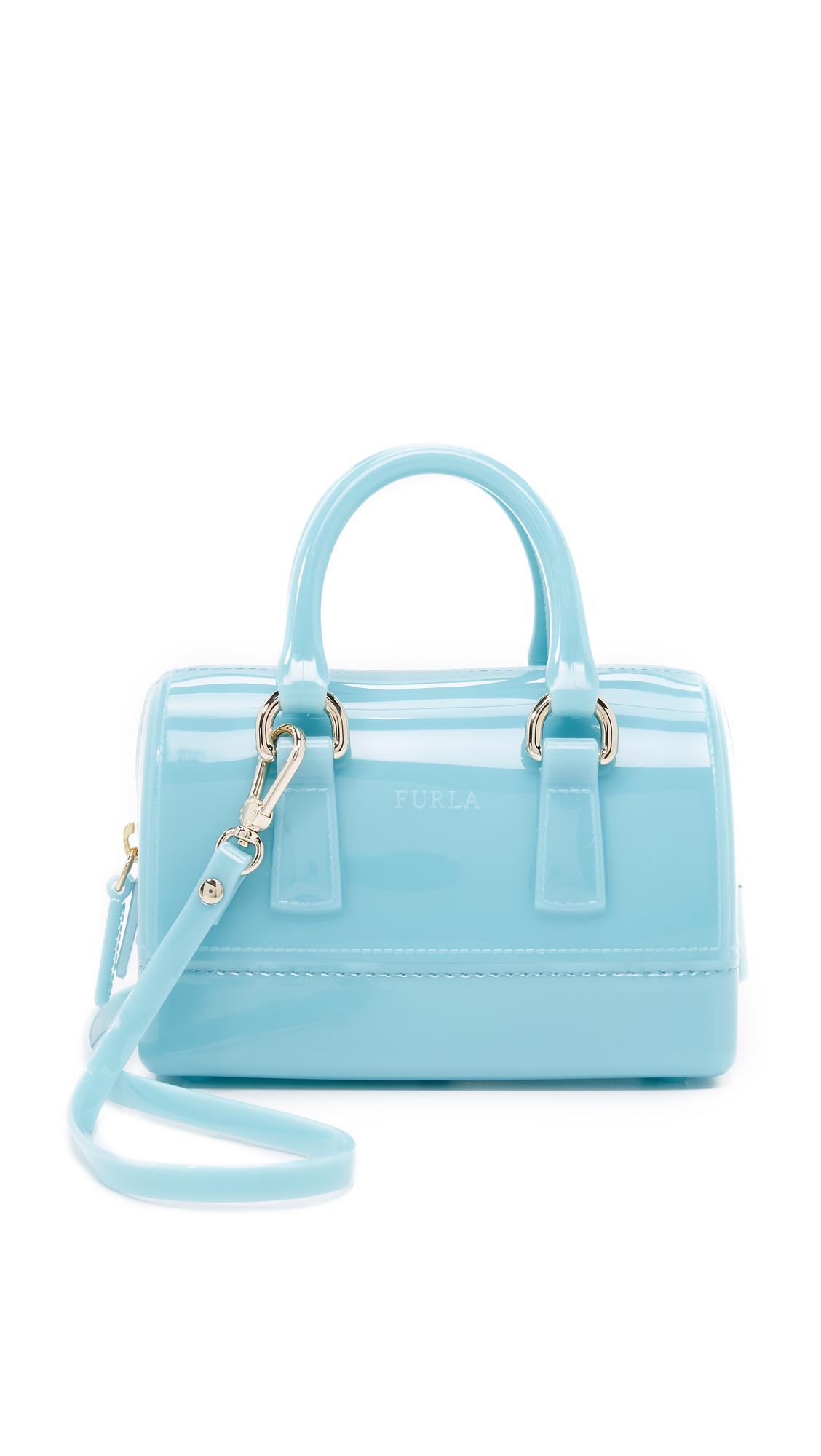 furla sweetie mini cross bag in blue lyst