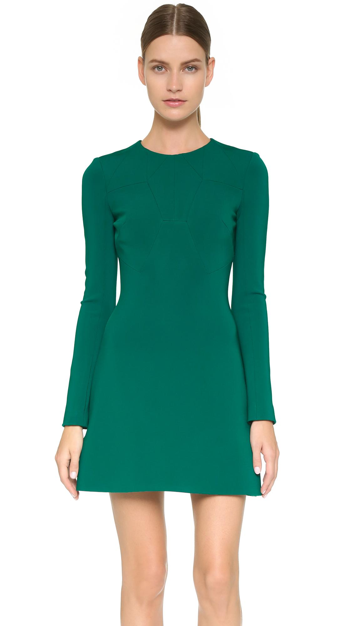 Cushnie et ochs Long Sleeve Dress - Emerald in Green | Lyst