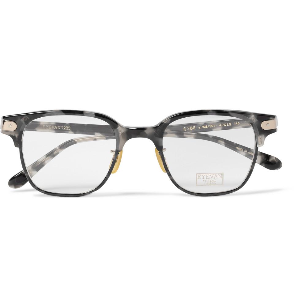 Eyevan 7285 638 Squareframe Acetate Optical Glasses
