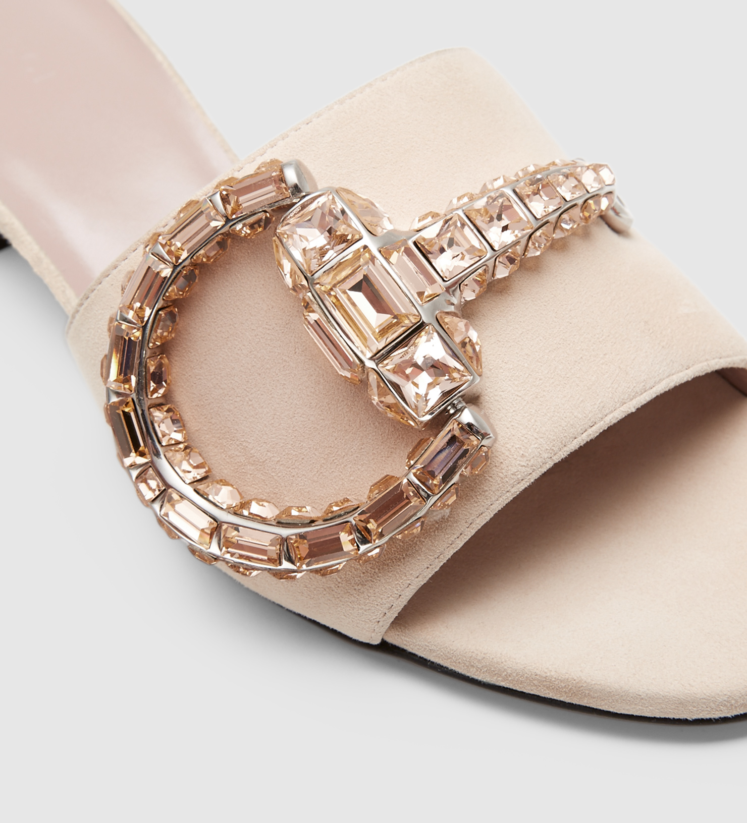 FSsJF0oNSC Crystal buckle sandals