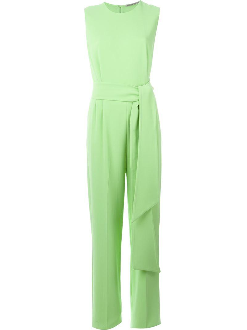 38dc23997c2 Ermanno scervino Sleeveless Belted Jumpsuit in Green