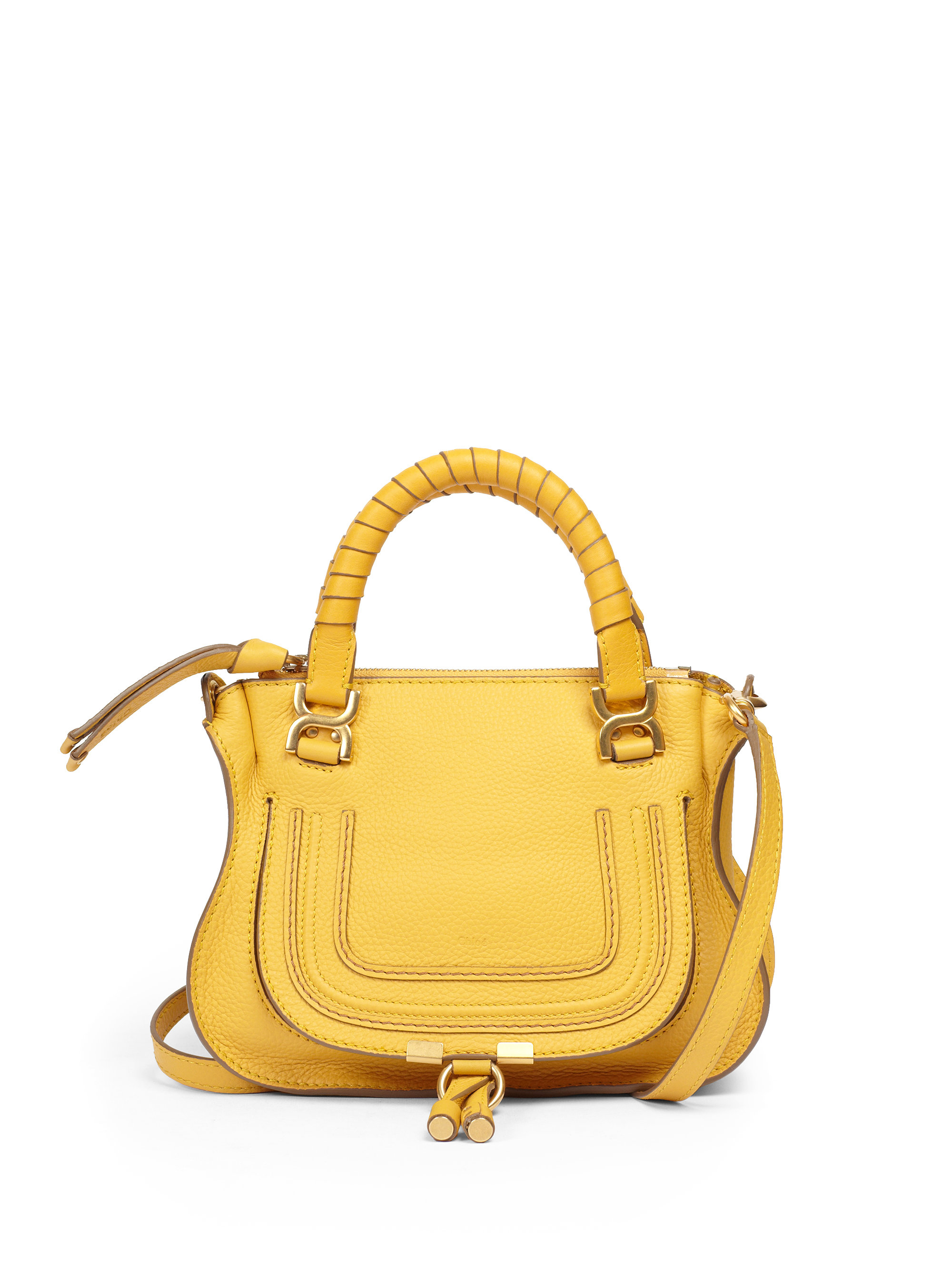 chlo mini marcie crossbody bag in yellow sunray lyst. Black Bedroom Furniture Sets. Home Design Ideas