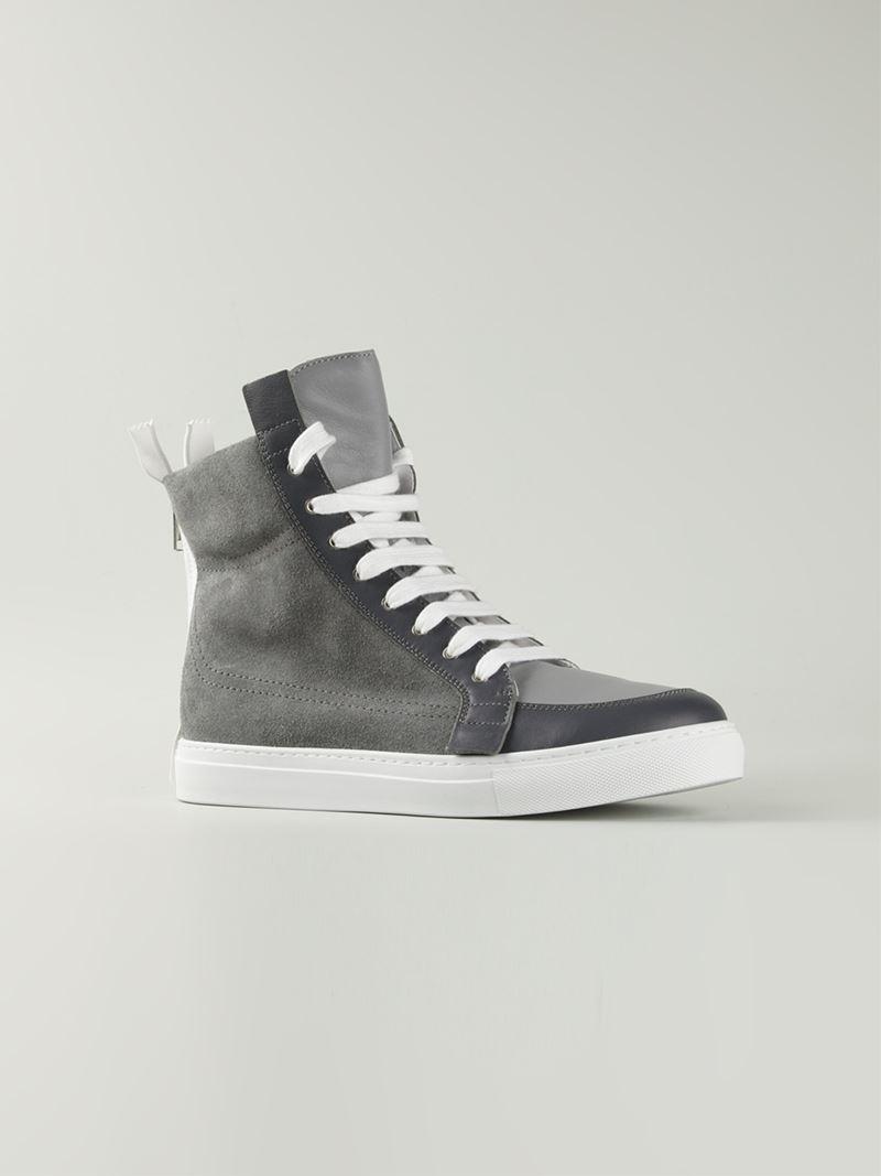 8629568a12797f Lyst - Kris Van Assche High Top Lace Up Sneakers in Gray for Men