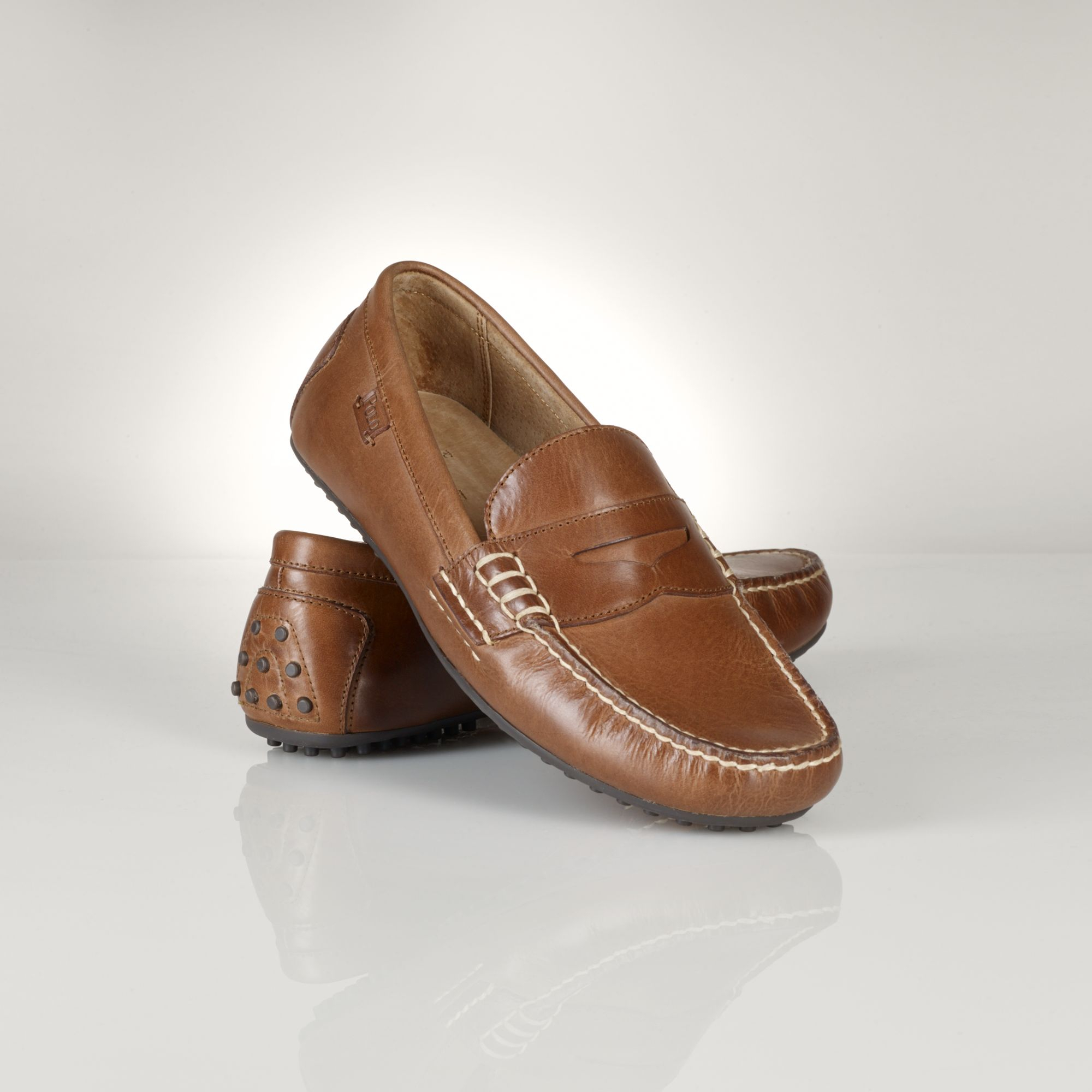 dde81b29724 Polo Ralph Lauren Leather Wes Penny Loafer in Brown for Men - Lyst