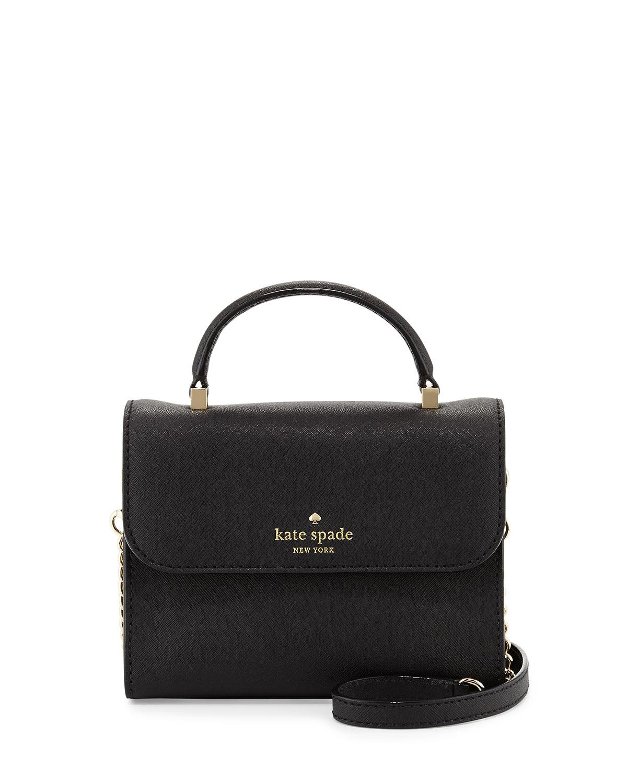 3ed337d1b1a9 Lyst - Kate Spade Cedar Street Nora Mini Cross-Body Bag in Black