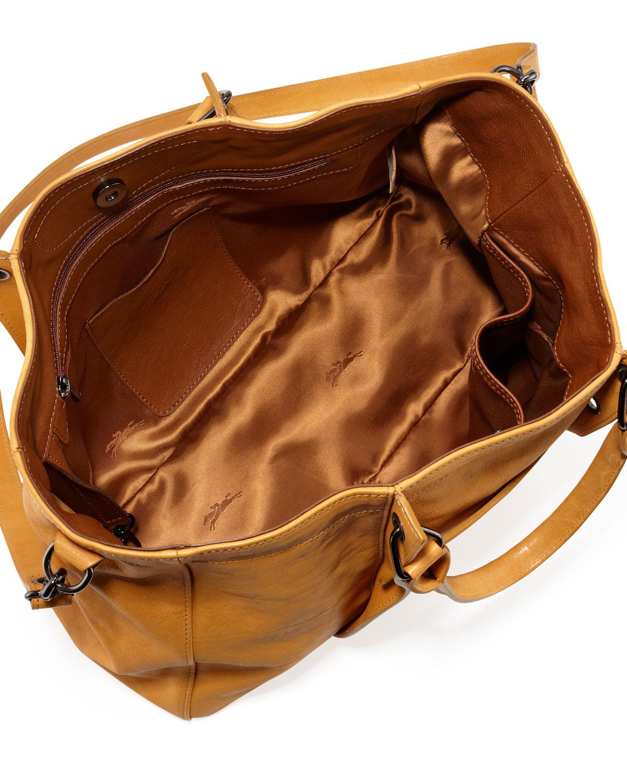 Lyst - Longchamp 3D Leather Tote Bag in Orange c7fe8f9c8b