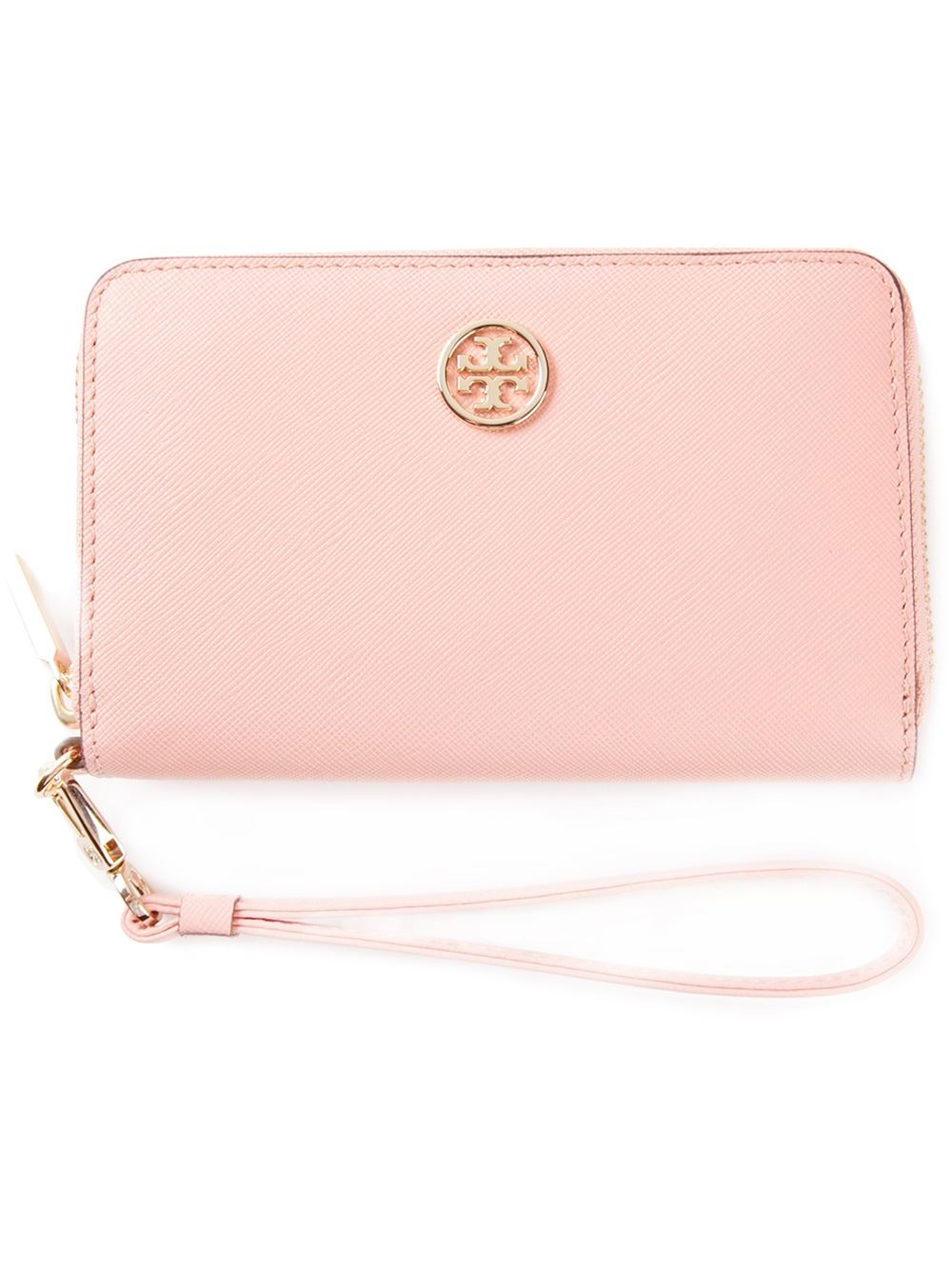 Lyst Tory Burch Robinson Smartphone Wristlet In Pink