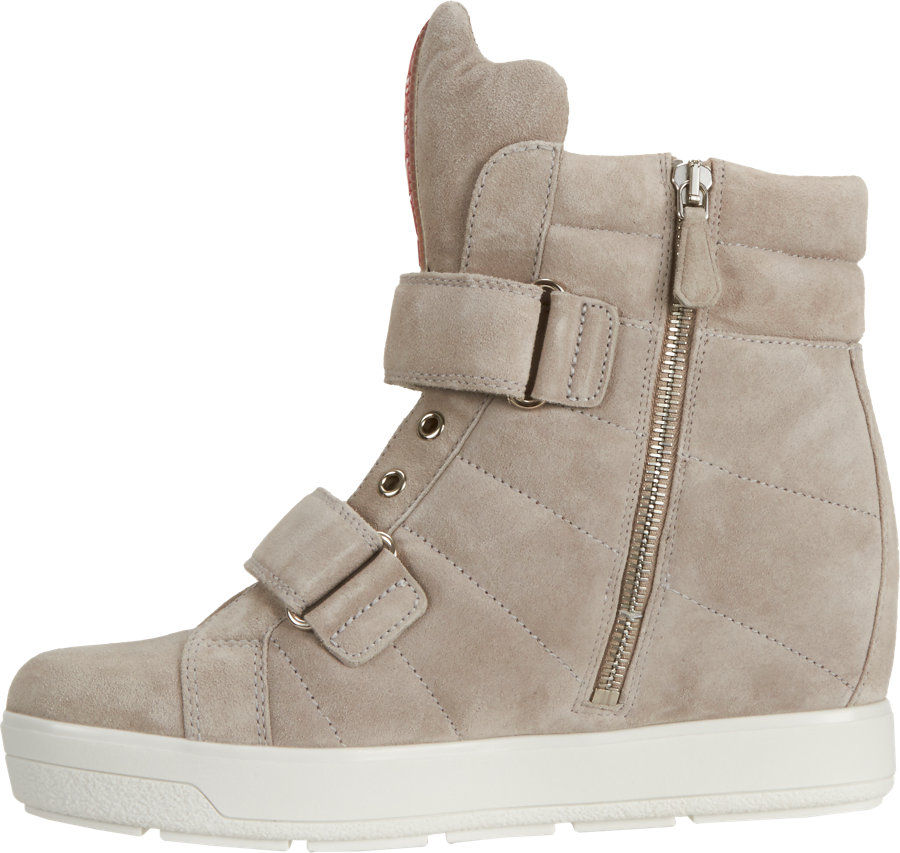 7f351eb583ab ... coupon for prada double strap hidden wedge sneakers in gray lyst bcf82  2e601