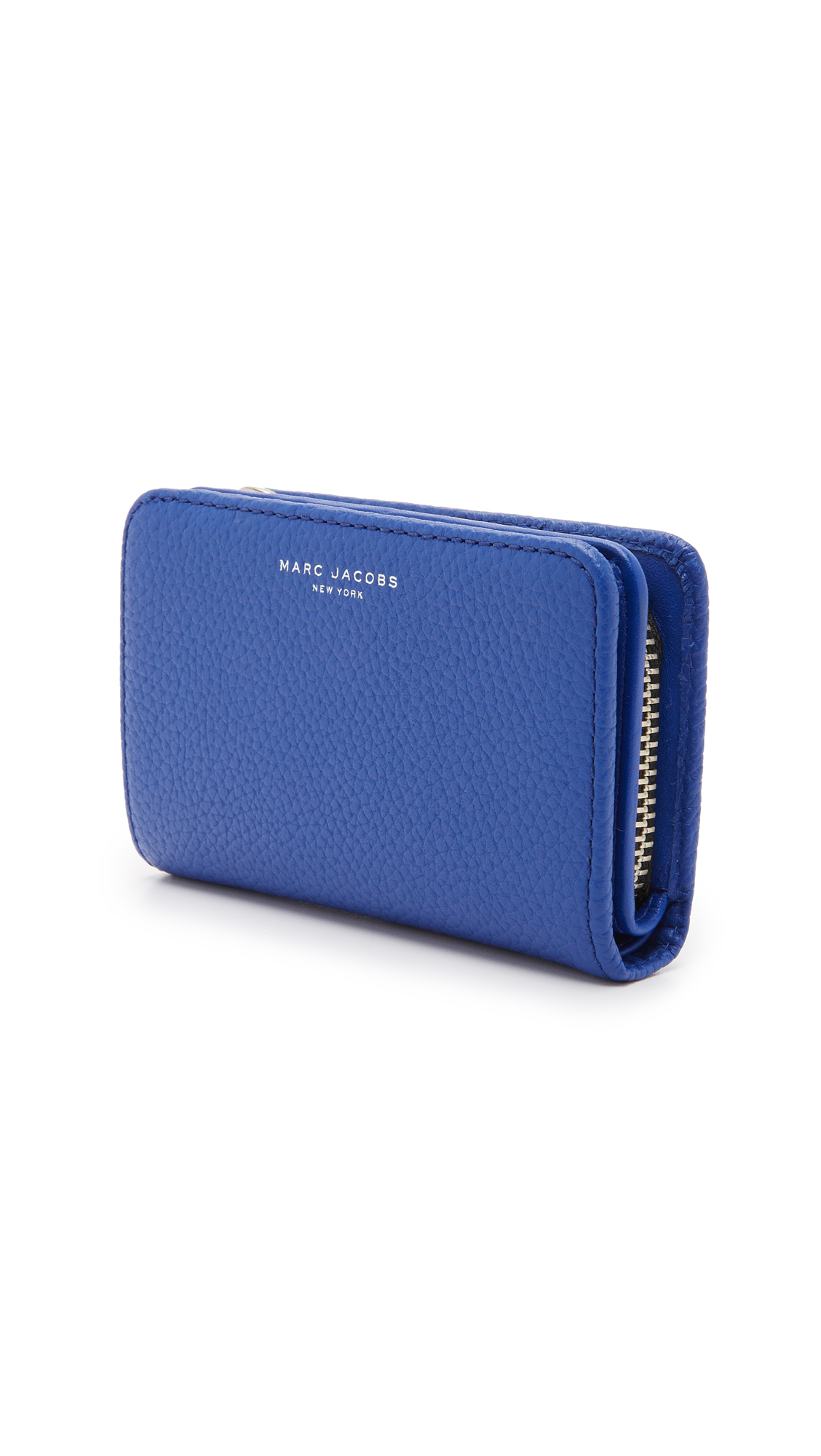c9b45abf70c2 Marc Jacobs Gotham Compact Wallet in Blue - Lyst