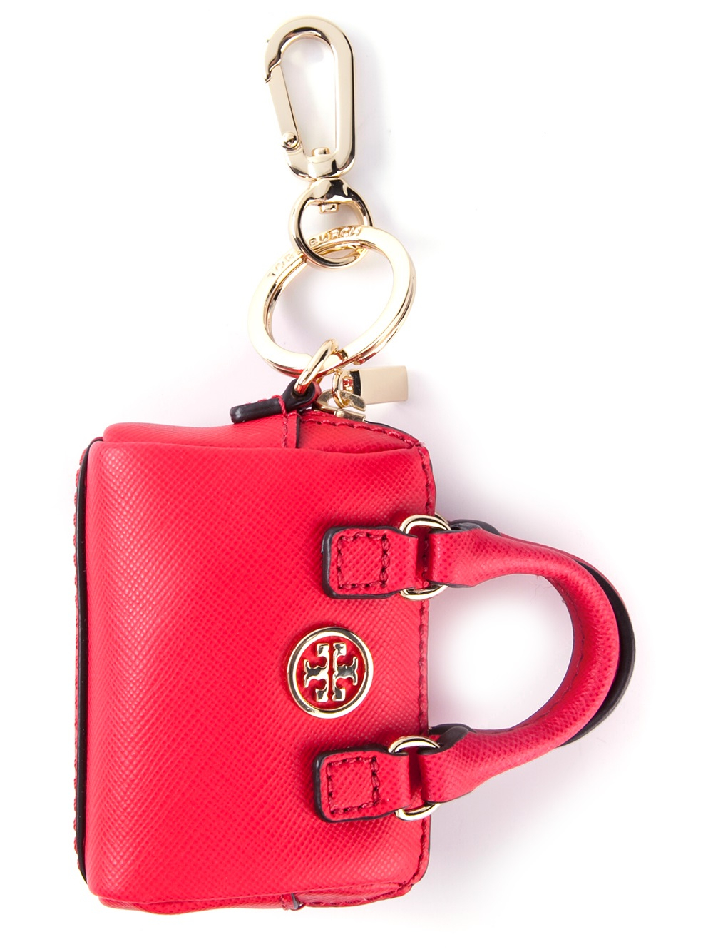 Lyst Tory Burch Handbag Key Chain In Red