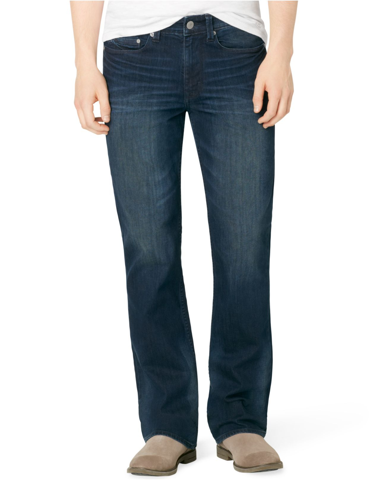 Calvin klein jeans Modern Bootcut Fit Osaka Blue Jeans in Blue for ...
