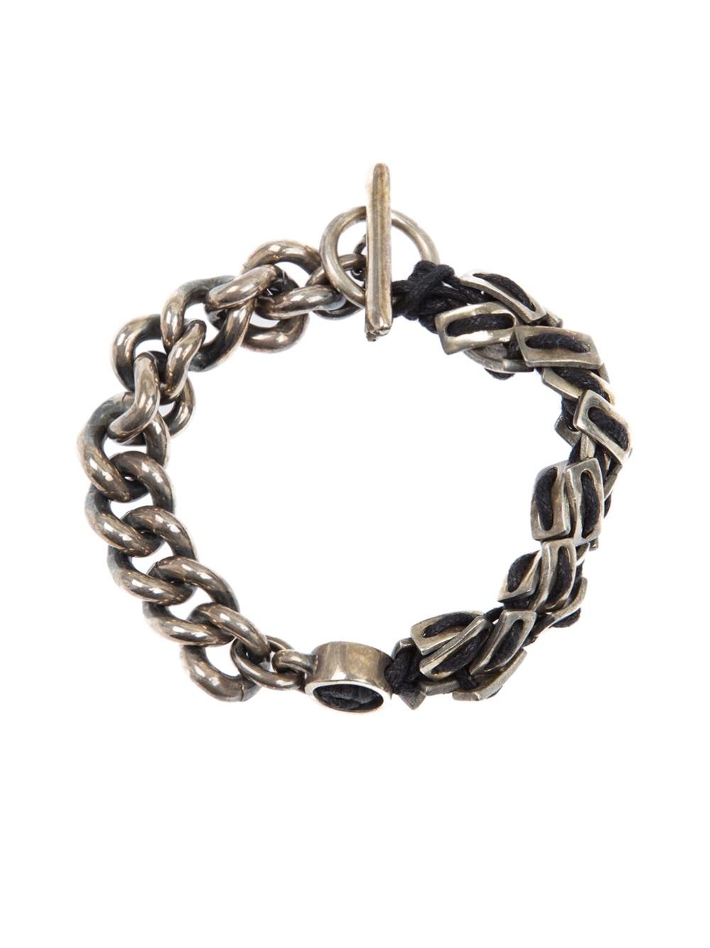 Lyst Tobias Wistisen Spine Chain Bracelet In Metallic