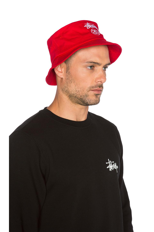 26194711c6c Lyst - Stussy Stock Lock Su15 Bucket Hat in Red for Men