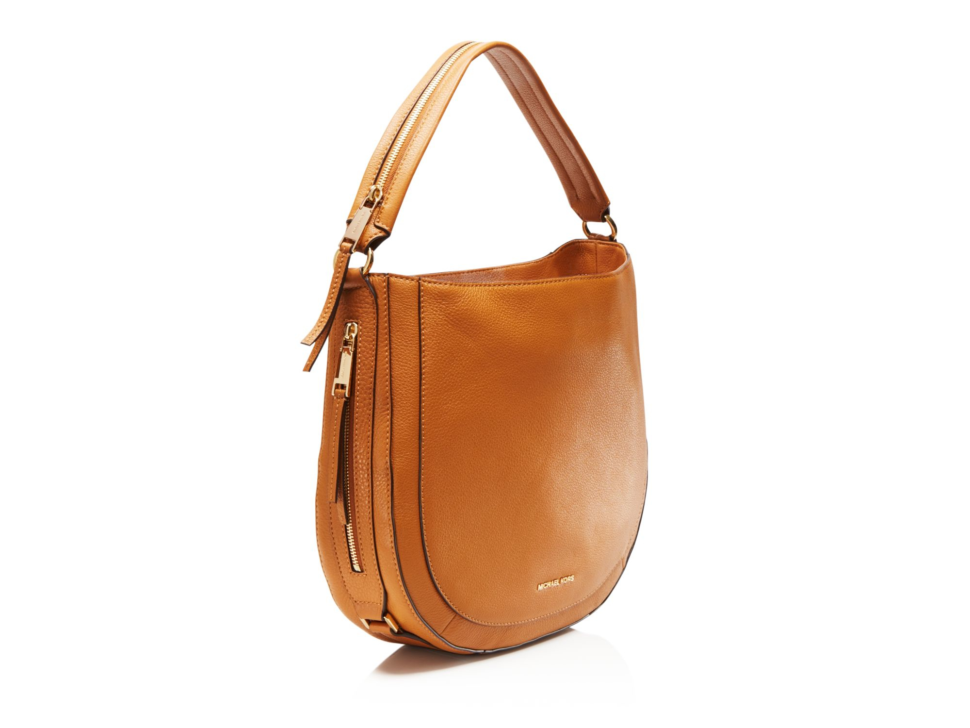 c6b067fd8f0429 cheap michael michael kors julia convertible shoulder bag in brown lyst  d5094 e095a