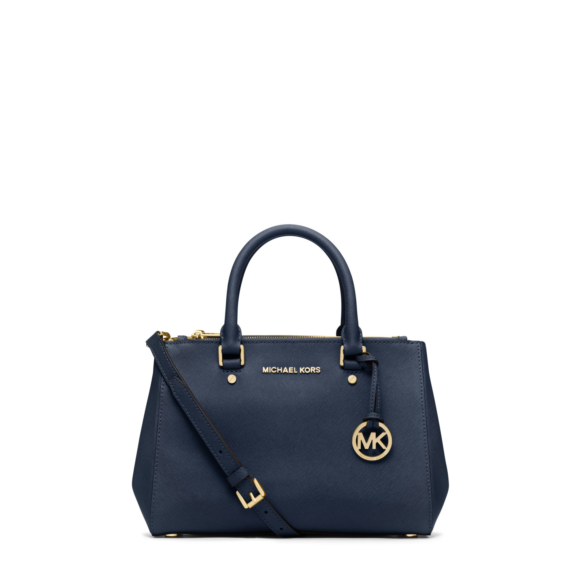 17349751ffe2d3 Michael Kors Sutton Small Saffiano Leather Satchel in Blue - Lyst