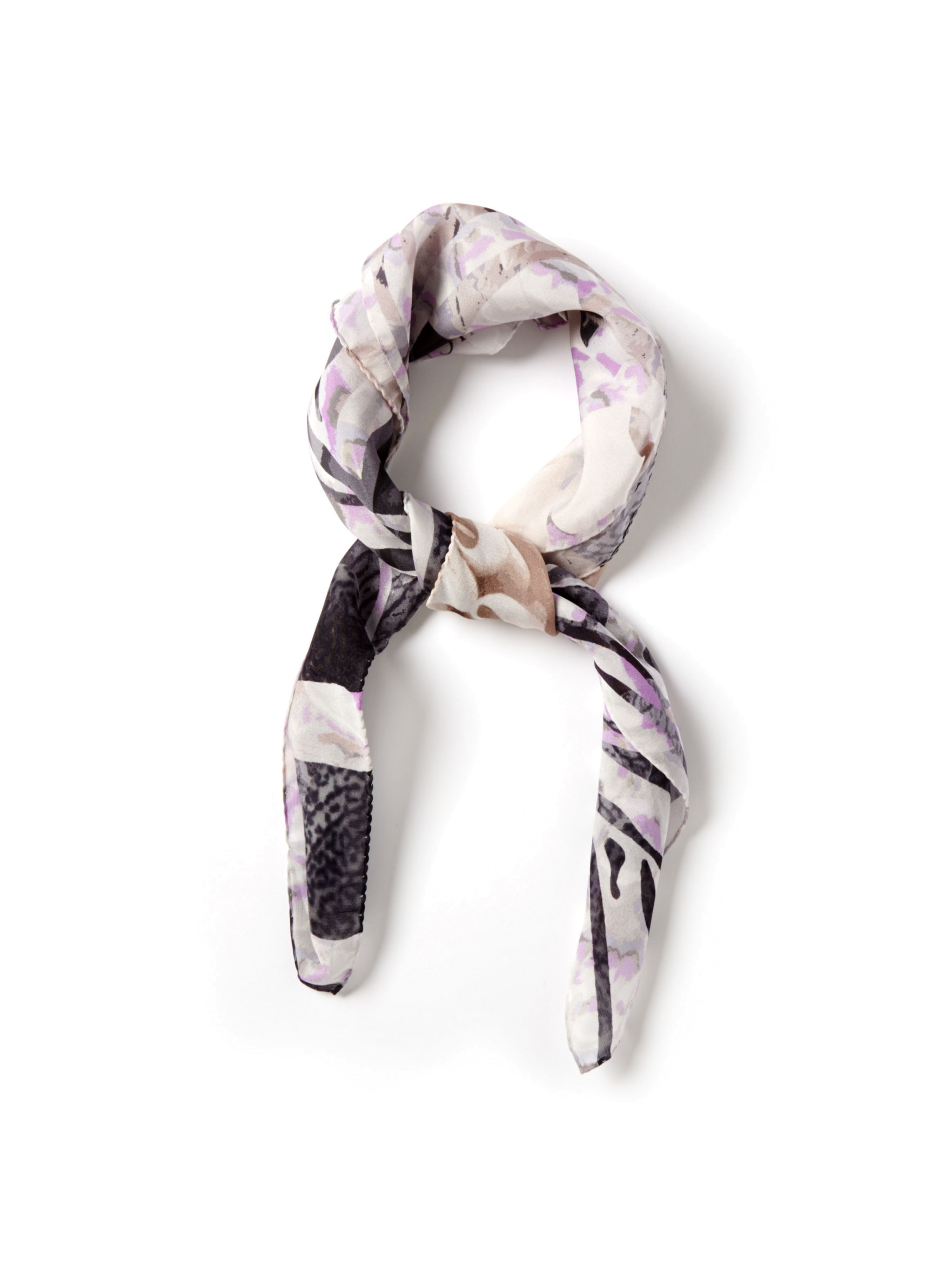 jimmy choo zebra floral scarf in gray grey lyst